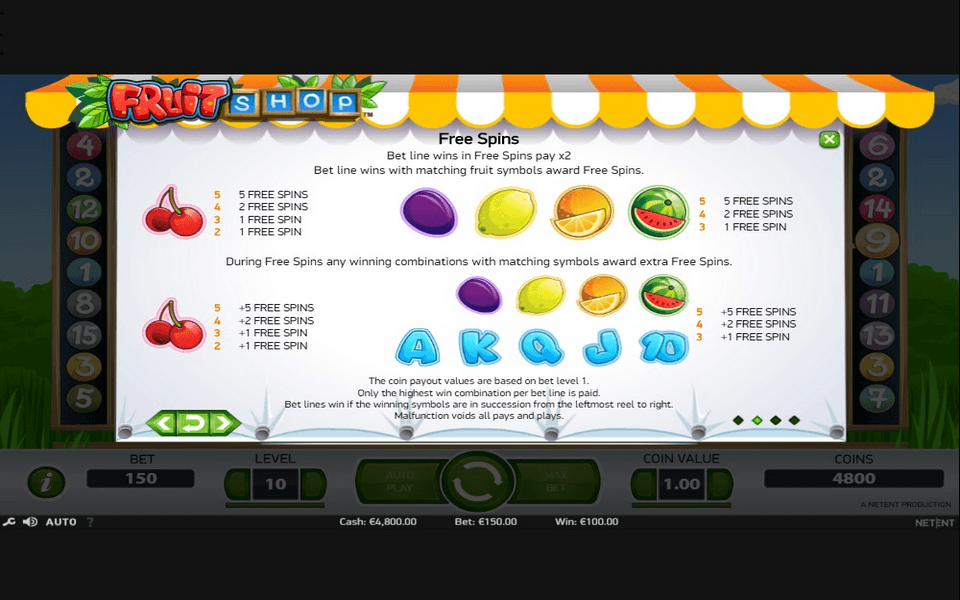 Fruit Shop Game Screenshot