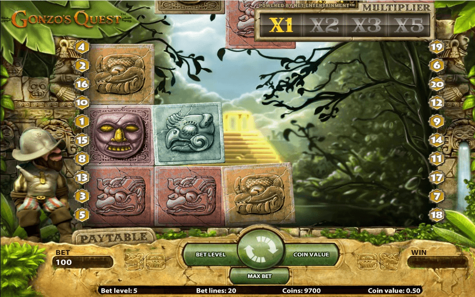 Gonzos Quest Game Screenshot