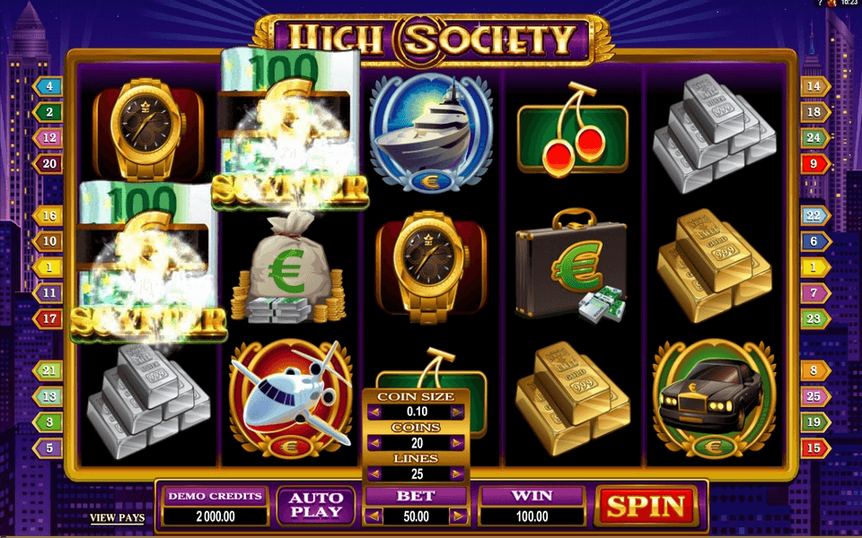 High Society Game Screenshot