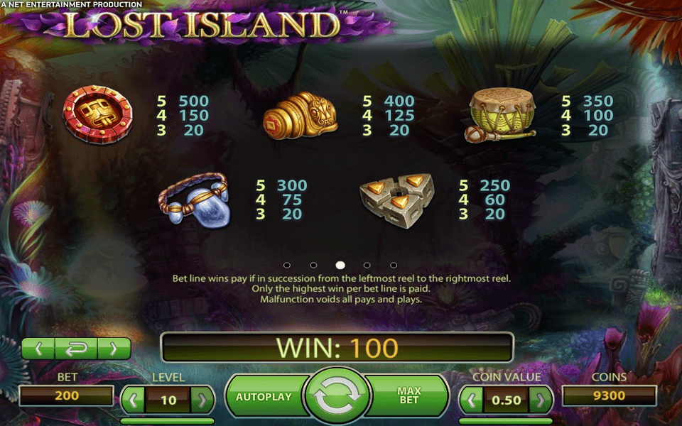 Lost Island Game Screenshot