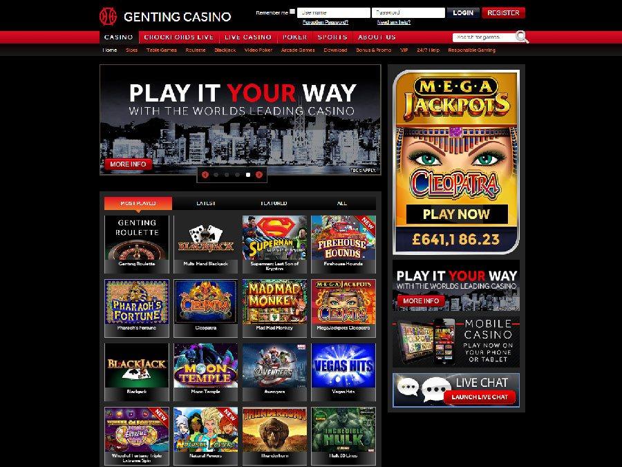 genting casino online support