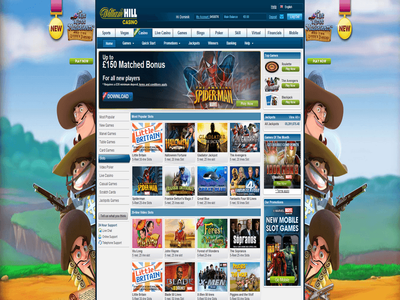Online slots william hill